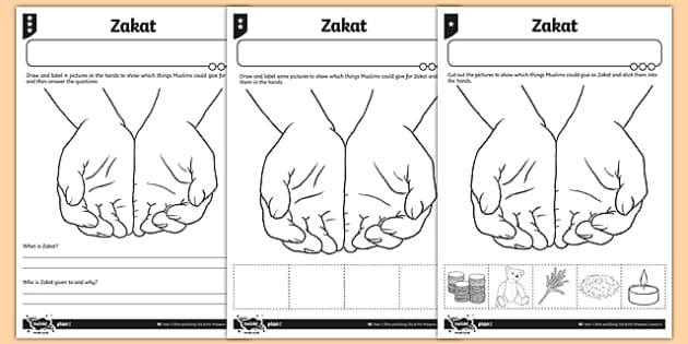 Zakat Differentiated Activity Sheet - zakat, muslim, islam, activity sheet, differentiated, worksheet