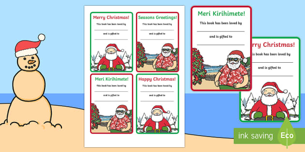 New Zealand Christmas Bookplates