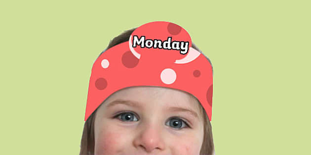 Days of the Week Headbands - days, week, headband, head, band