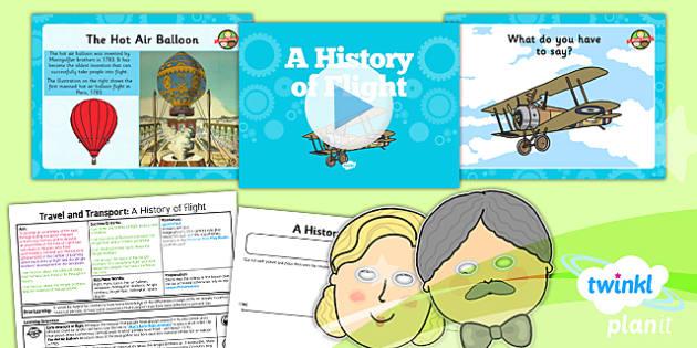 PlanIt History KS1 Travel and Transport Lesson 5 A History Flight