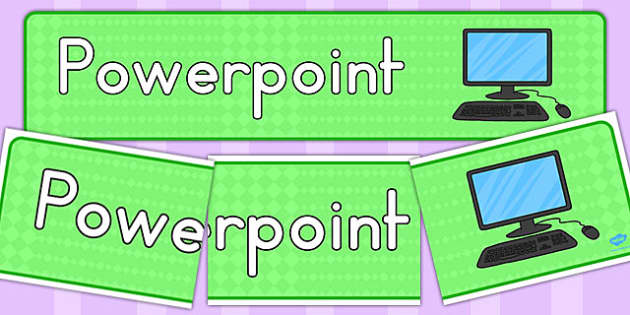 PowerPoint Display Banner - computer, displays, banners, visual