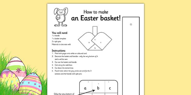 Easter Basket Colouring Activity - easter, easter basket, design, art, RE