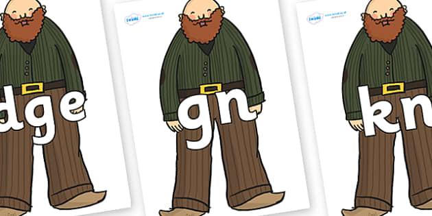 Silent Letters on Giants - Silent Letters, silent letter, letter blend, consonant, consonants, digraph, trigraph, A-Z letters, literacy, alphabet, letters, alternative sounds