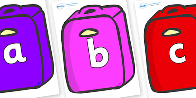 Phoneme Set on Suitcases - Phoneme set, phonemes, phoneme, Letters and Sounds, DfES, display, Phase 1, Phase 2, Phase 3, Phase 5, Foundation, Literacy