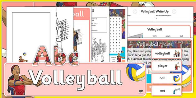 The Olympics Volleyball Resource Pack - Volleyball, Olympics, Olympic Games, sports, Olympic, London, 2012, resource pack, pack resources, activity, Olympic torch, events, flag, countries, medal, Olympic Rings, mascots, flame, compete