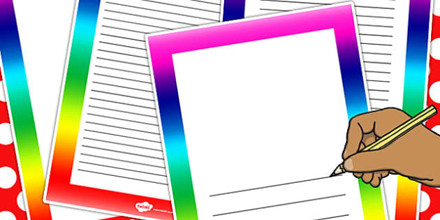 Rainbow Page Borders - rainbow, page, borders, display, border