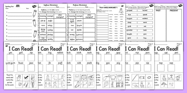 Early Years to KS2 Spelling List Pack - eyfs, ks1, ks2, spelling
