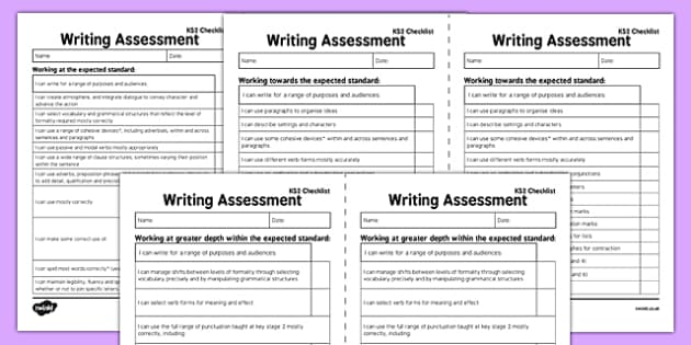 Y6 'I Can' Writing Assessment Exemplification Checklists  - year 6, English, literacy, new curriculum, objectives