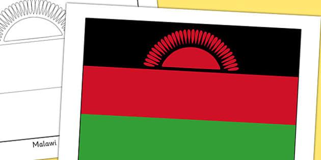 Malawi Flag Display Poster - countries, geography, display