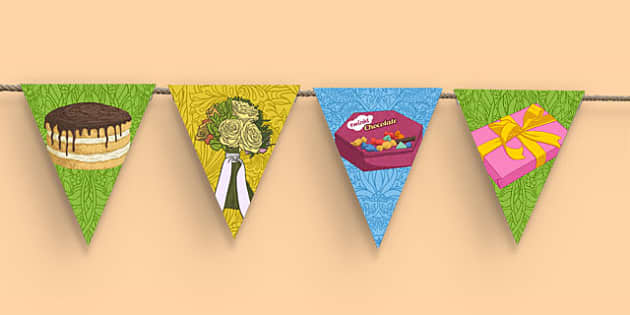 90th Birthday Party Picture Bunting - 90th birthday party, 90th birthday, birthday party, picture bunting