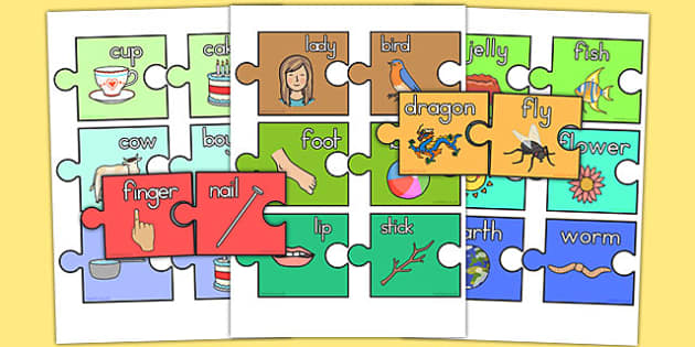 Compound Words Jigsaw Pairing Game - australia, compound words, jigsaw, pairing, game