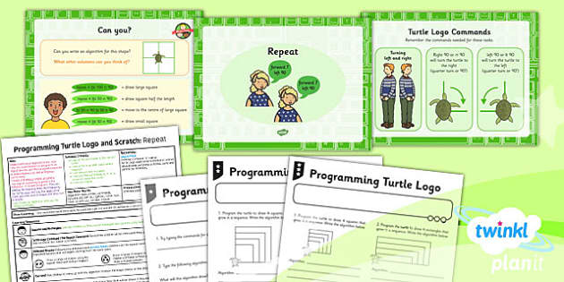 PlanIt - Computing Year 2 - Programming Turtle Logo and Scratch Lesson 2: Repeat Lesson Pack