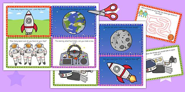 Challenge Cards Spaceship - challenge cards, space ship, space