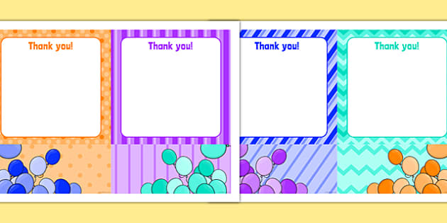 6th Birthday Party Thank You Notes - 6th birthday party, 6th birthday, birthday party, thank you notes