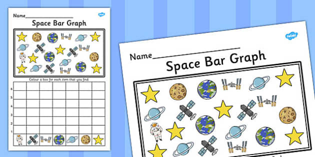 Space Bar Graph Activity Worksheet - graph, activity, space, bar