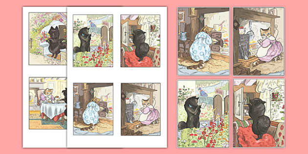 Beatrix Potter - The Tale of the Pie and the Patty Pan Story Cut Outs - beatrix potter, pie, patty pan, story, cut outs, cut, out