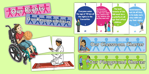 Rights Respecting Schools Display Pack - CfE, Health and Wellbeing, PSHE, Rights Respecting Schools, UN Charter Rights of the Child, Children's Rights, Responsibilities, display