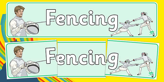 The Olympics Fencing Display Banner - Fencing, Olympics, Olympic Games, sports, Olympic, London, 2012, display, banner, poster, sign, activity, Olympic torch, events, flag, countries, medal, Olympic Rings, mascots, flame, compete
