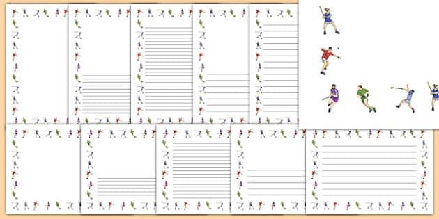 GAA Themed Page Border - page border, display, gaa, theme, ireland, irish, sport, writing