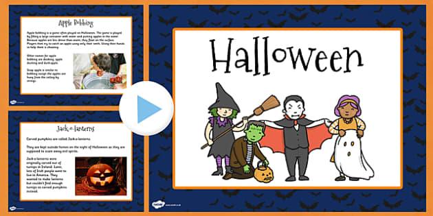 Halloween Informative PowerPoint - halloween, information, info