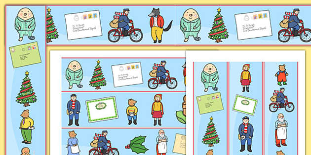 Display Borders to Support Teaching on The Jolly Christmas Postman - the jolly christmas postman, borders, the jolly postman themed borders, christmas display borders