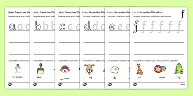 Letter Formation Worksheets az Handwriting letter – Letter Formation Worksheets