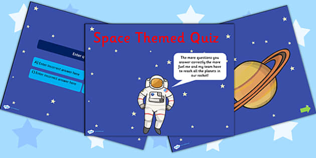 Space Themed Editable PowerPoint Quiz - space, space quiz, space powerpoint, editable powerpoint, editable quiz, quiz powerpoint, space themed quiz