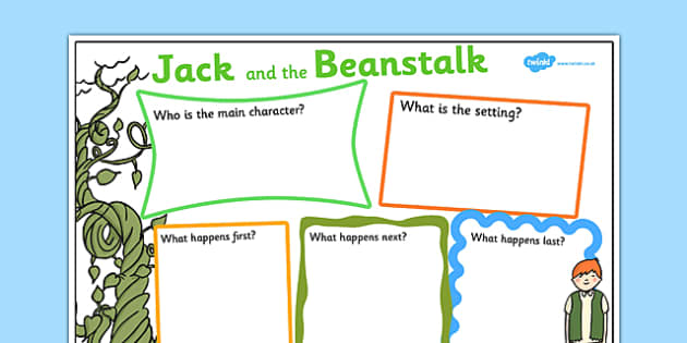 Jack and the Beanstalk Story Review Writing Frame - jack and the beanstalk, jack and the beanstalk book review, jack and the beanstalk writing frame