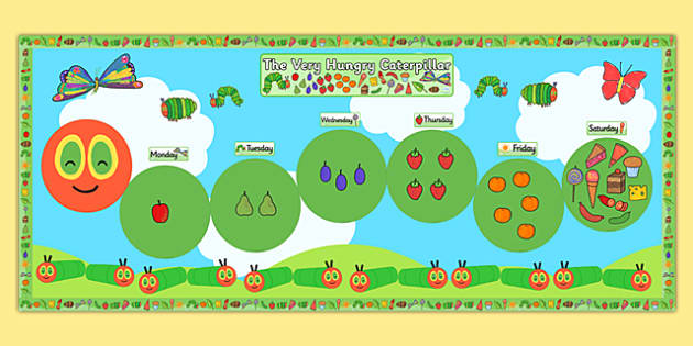 Ready Made Display Pack Version 2 to Support Teaching on The Very Hungry Caterpillar - pack