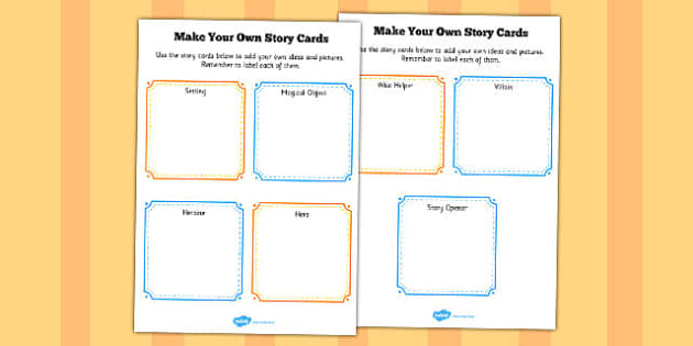 Make Your Own Story Cards - story, cards, make, own, story cards