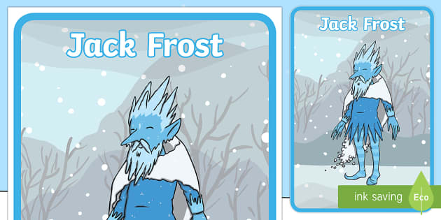 Jack Frost Character Poster - Jack Frost, winter, display, banner, poster, sign, Snowflake, snow, winter, frost, cold, ice