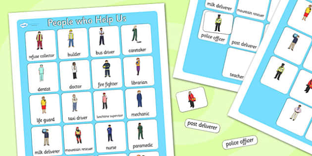 People Who Help Us Vocabulary Poster - people who help us, display posters, themed posters, images, pictures, key words, people who help us vocabulary