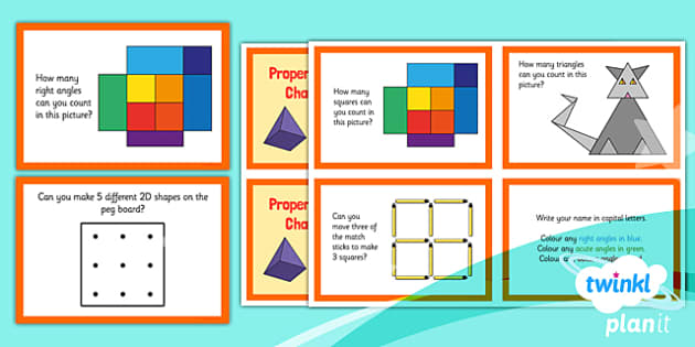 PlanIt Y3 Properties of Shape Challenge Cards - PlanIt, Properties of Shapes
