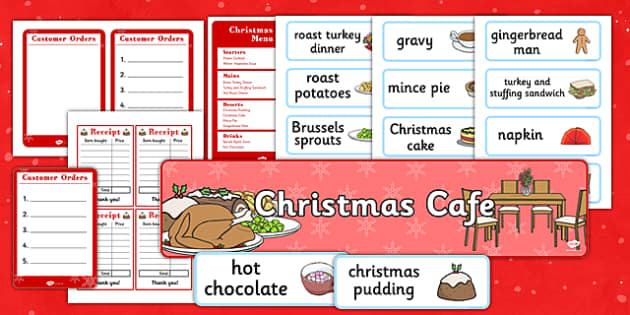 Christmas Cafe Role Play Pack - christmas caf