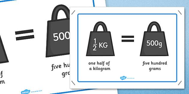 One Half Kilo 500g Poster - poster, display, half kilo, 500g