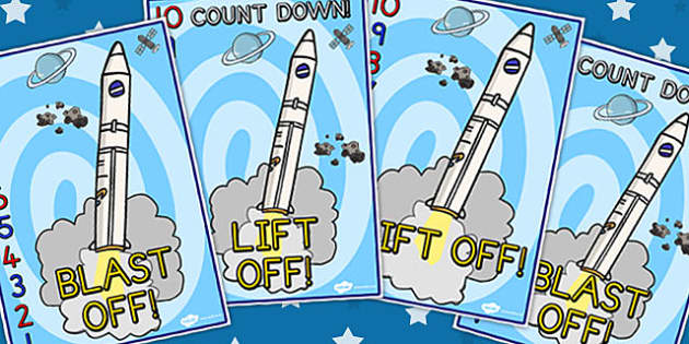 Space Rocket Countdown Display Posters 10-0 - Displays, Poster