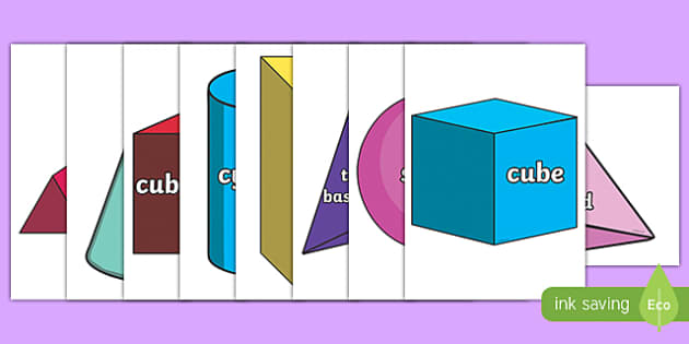 3D Shapes Display Cut Outs - 3d shapes, display, cut outs, 3d, shape