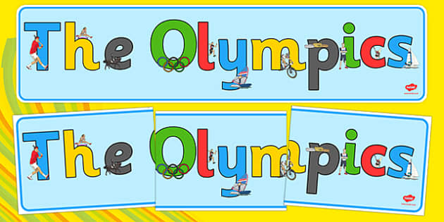 Olympics Display Banner - Rio, events, Olympic, literacy