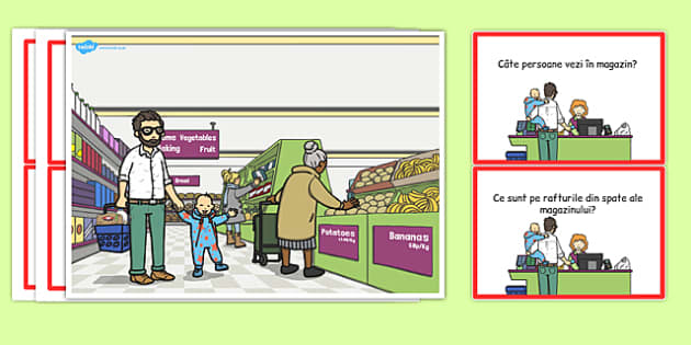 La supermarket, Plansa - comunicare, dezvoltarea vorbirii