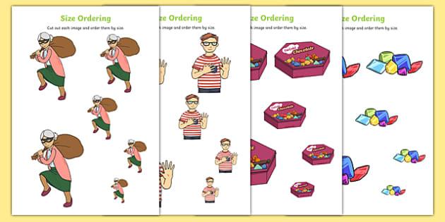 Criminal Granny Size Ordering - gangsta granny, criminal granny, david walliams, size ordering