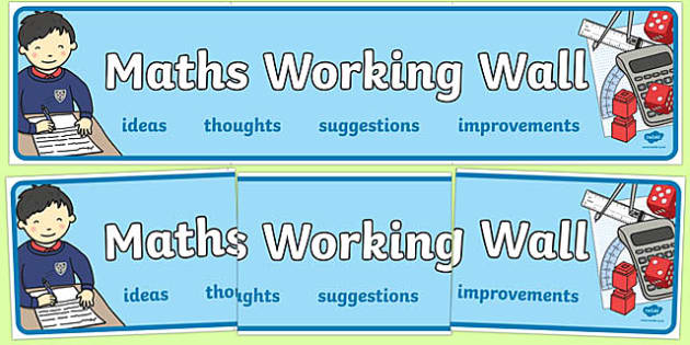 Maths Working Wall Display Banner - maths display banner, maths working wall, mathematics display banner, mathematics banner, maths wall, mathematics