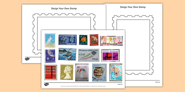 Design a Stamp Activity With Photos - design a stamp, activity, photos, design, stamp