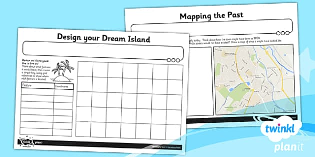 PlanIt - Geography Year 5 - Marvellous Maps Unit Home Learning Tasks