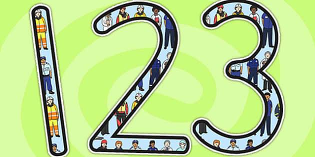 People Who Help Us Display Numbers - number display, numbers