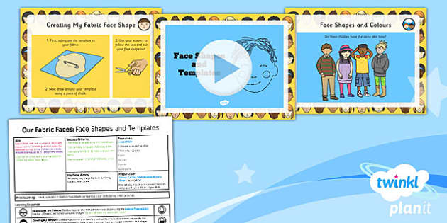 PlanIt - DT KS1 - Our Fabric Faces Lesson 4: Face Shapes and Templates Lesson Pack