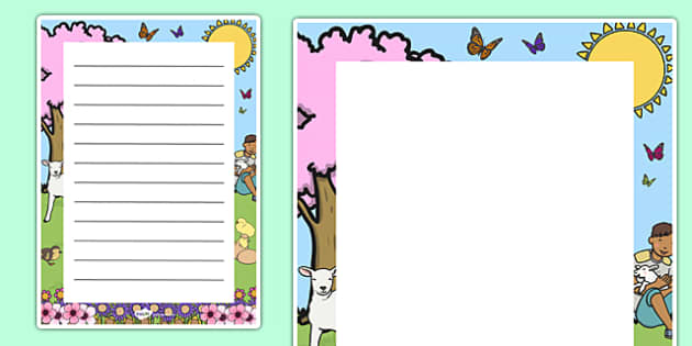 Spring Decorative Page Border - page, border, spring, decorative