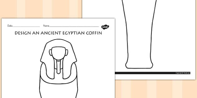 Design an Ancient Egyptian Coffin Activity - australia, egypt