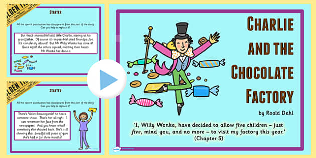 Drama Activity PowerPoint to Support Teaching on Charlie and the Chocolate Factory
