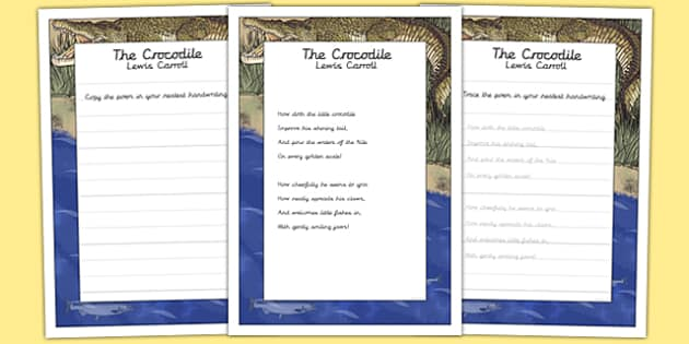 The Crocodile KS2 Handwriting Practice - ks2, handwriting, practice, crocodile