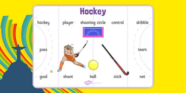 The Olympics Hockey Word Mat - the olympics, rio 2016, 2016 olympics, rio olympics, hockey, word mat